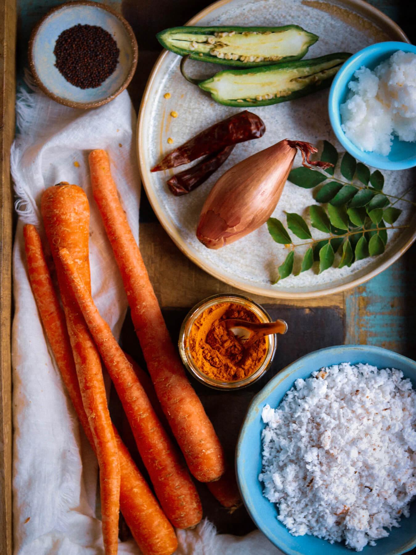 Carrot Thoran Kerala