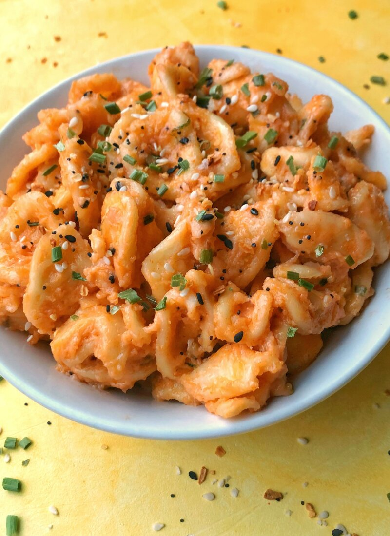 Everything Bagel Cheese Pasta