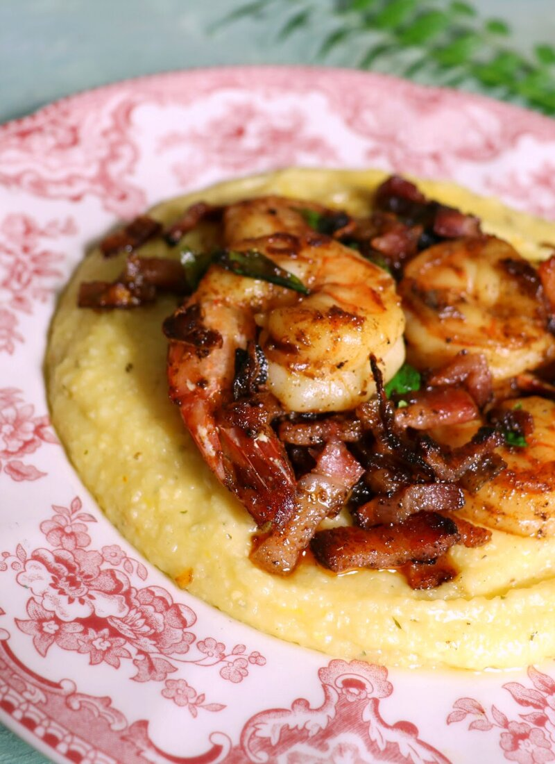 Kerala Shrimp and Grits