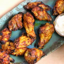 Mango Chili Chicken Wings with Garlic Lime Dip