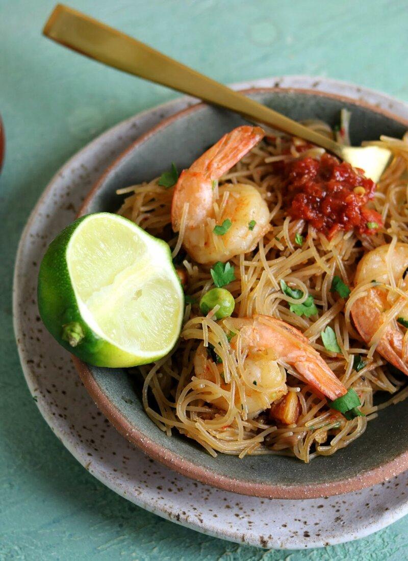 Shrimp & Veggie Rice Noodles