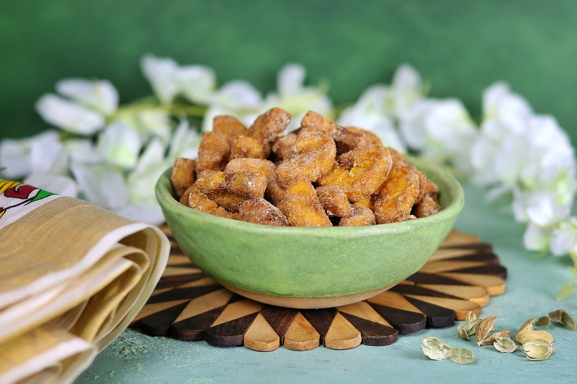Sarkara Varatti (Spiced Plantain Chips)