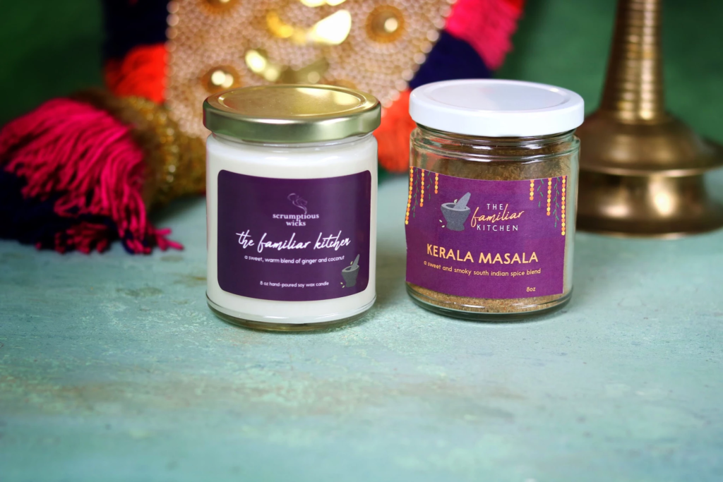 """""""The Familiar Kitchen"""" Candle and Spice Blend Duo Set"""