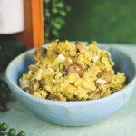Smoked Salt Saffron Quinoa with Maple Chicken Sausage