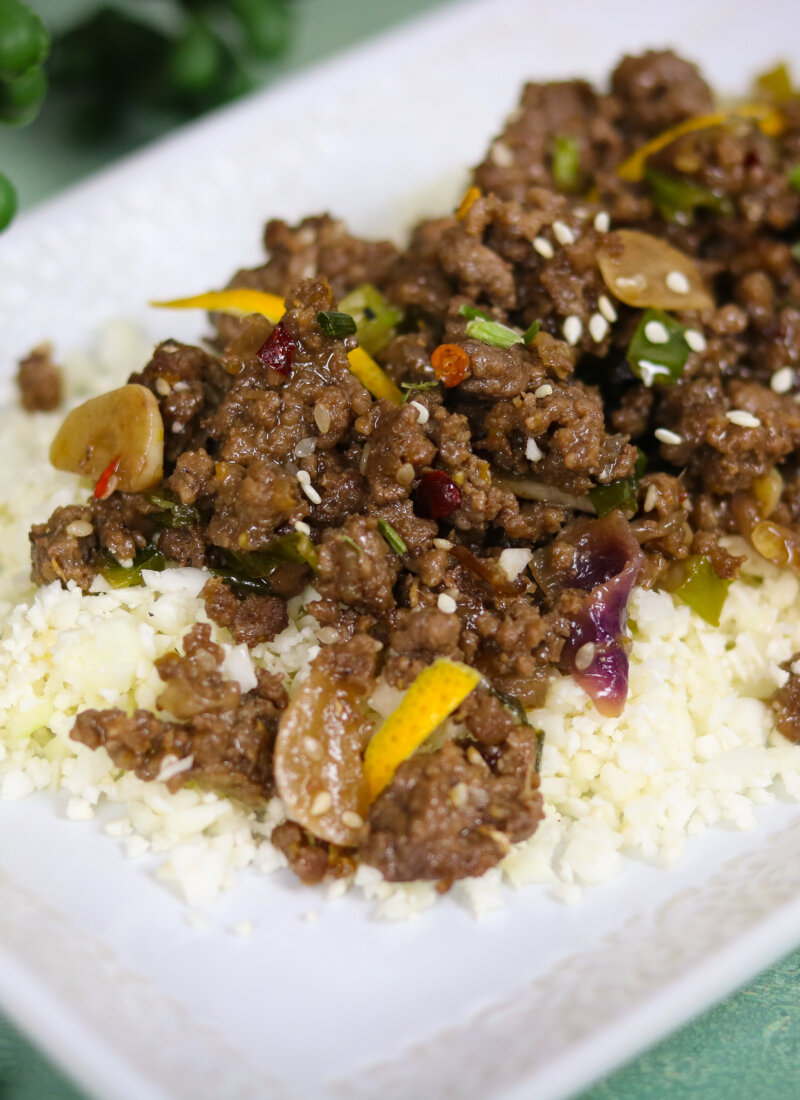 Spicy Orange Sesame Ground Beef