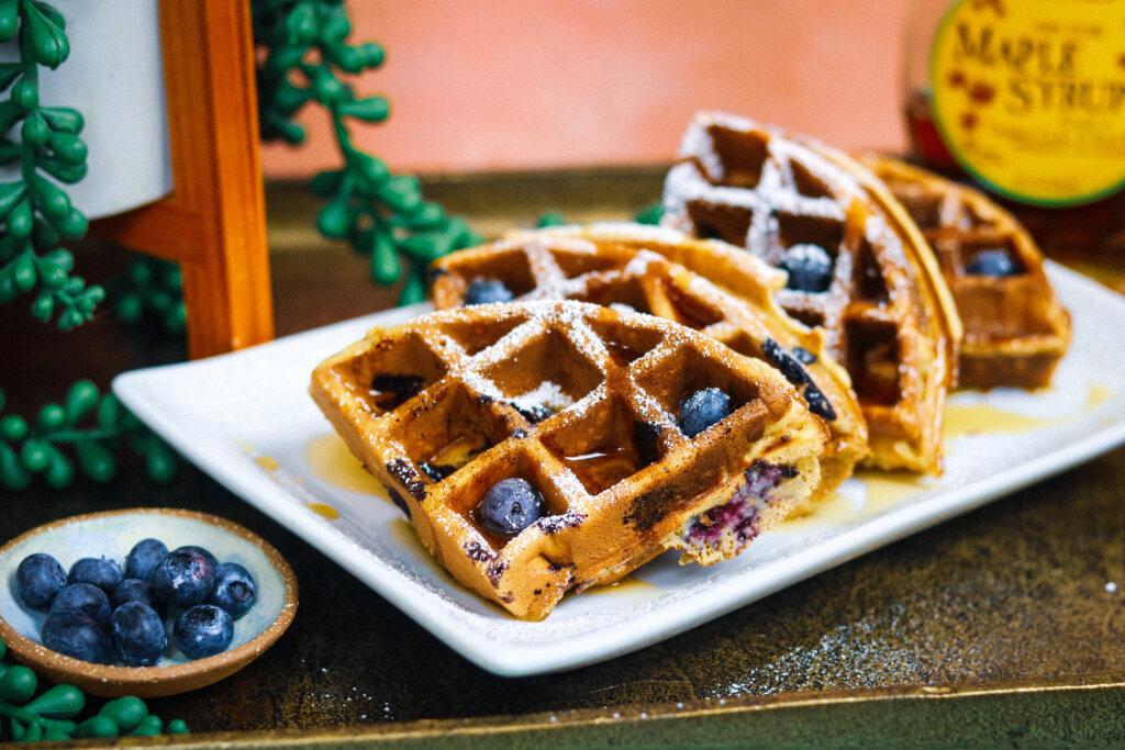 Blueberry Brown Sugar Waffles