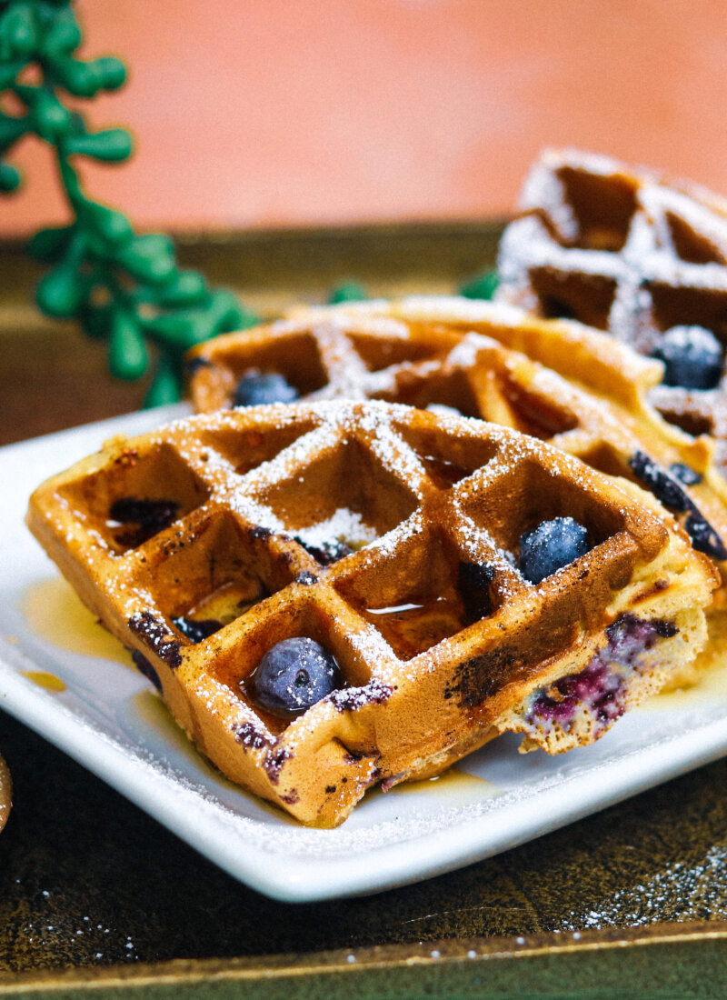 Blueberry Brown Sugar Waffles