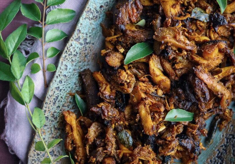 Shredded Turkey Masala (Thanksgiving Leftovers)