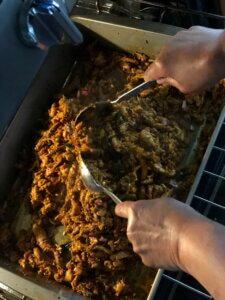 Shredded Turkey Masala - Thanksgiving Leftovers