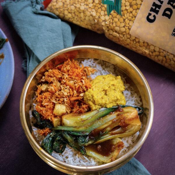 Bok Choy Basmati Bowl & Chana Dal Chutney