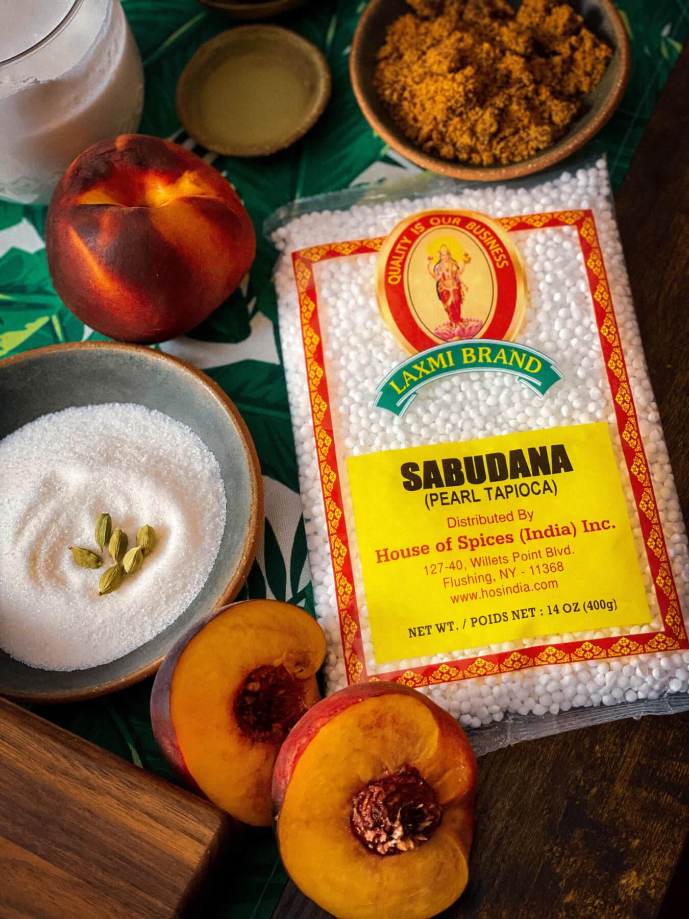Peach Sabudana Pudding
